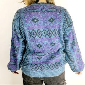 Vintage Sweaters - [VTG] Cozy Oversized Aztec Sweater